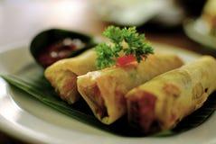Bokeh indonésien de petit pain de ressort Photographie stock