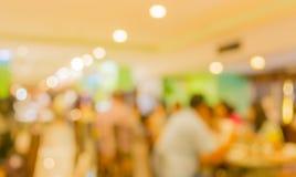 Bokeh of Interior of modern restaurant Stock Image