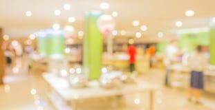 Bokeh of Interior of modern restaurant Stock Images