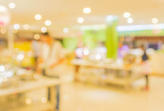 Bokeh of Interior of modern restaurant Royalty Free Stock Image