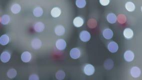 Bokeh irregolare astratto, ghirlande dei colori differenti fotografia stock libera da diritti