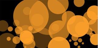 Bokeh jaune Le résumé du fond de bokeh de lumière de cercle lumières d'or de fond Concept de lumières de Noël Vecteur illustration stock