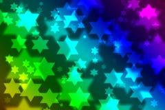 Bokeh judaico do fundo da celebração da estrela ilustração do vetor