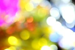 bokeh kleurenachtergrond Stock Fotografie