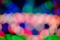 Bokeh kolor nocy światło, zamazany tło Zdjęcie Stock