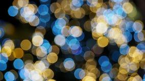 Bokeh kolorowi zamazani światła Fotografia Royalty Free