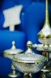 bokeh lägger in silver Royaltyfri Bild