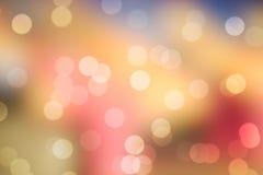Bokeh léger coloré Images libres de droits
