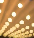 Bokeh lampa Fotografering för Bildbyråer