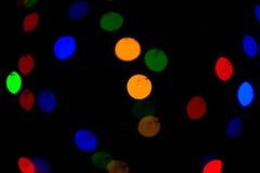 Bokeh lampor härlig jul för bakgrund och nytt år ljust festligt abstrakt begrepp med Royaltyfria Foton