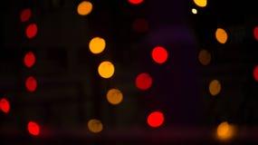 Bokeh lampor härlig jul för bakgrund och nytt år ljust festligt abstrakt begrepp med Royaltyfria Bilder