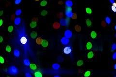 Bokeh lampor härlig jul för bakgrund och nytt år ljust festligt abstrakt begrepp med Royaltyfri Fotografi