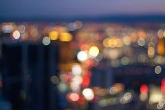 Bokeh Las Vegas Strip Blurred Background royalty free stock photo