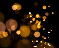 Bokeh from LED flashlights royalty free stock photography
