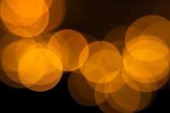 Bokeh from LED flashlights stock photography