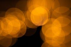 Bokeh from LED flashlights stock image