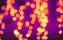 Bokeh Leuchten auf Straße Stockbilder