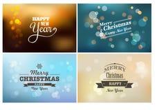 Bokeh léger, lumières de Noël magiques - milieux Photos stock