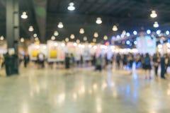 Bokeh-Licht in der Ausstellungsmitte Lizenzfreies Stockfoto