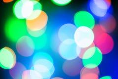 Bokeh-Licht der Lampe in der Nacht Stockbilder