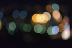 bokeh Lichteffekt Colorfull-Unschärfe-Zusammenfassungshintergrund Stockfotografie