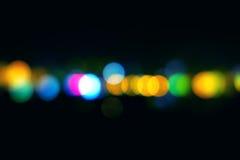 Bokeh-Lichter auf dem Schwarzen Lizenzfreie Stockfotos