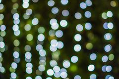 Bokeh-Lichter in der Nacht Stockbild
