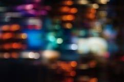 Bokeh ligero colorido en fondo de la falta de definición de movimiento Imagen de archivo