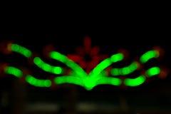 Bokeh ligero para la decoración de la Navidad Imagen de archivo