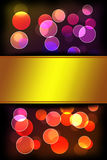 Bokeh light. Abstract background with space for text Royalty Free Stock Photos