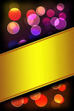 Bokeh light. Abstract background with space for text Royalty Free Stock Image