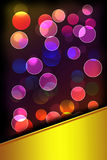 Bokeh light. Abstract background with space for text Stock Image