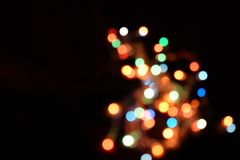 Bokeh light abstract background. Varicoloureds patches of light for background royalty free stock photos