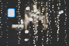 Bokeh Light Abstract Background in Vintage Look Stock Image