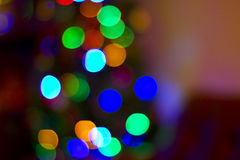 Bokeh Light Background. Blurred colorful  christmas lights background Royalty Free Stock Image