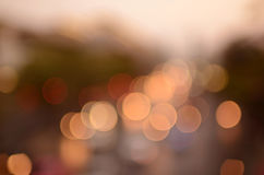 Bokeh light background. In the city for background design Stock Photo
