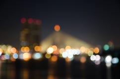 Bokeh. Of light background in night bangkok Stock Photography