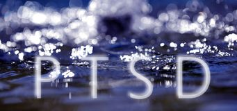Bokeh light background in the pool with text ptsd. Image of a Bokeh light background in the pool with text ptsd Royalty Free Stock Image