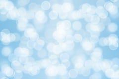 Bokeh light on blue background.  Royalty Free Stock Photo