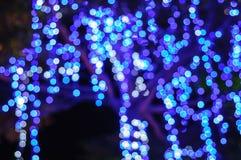 Bokeh light. Blue light bokeh backgrounds at nigth Stock Photography