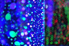 Bokeh from light of bulb in party festival event Stock Photos