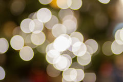Bokeh light on christmas tree  background Stock Images