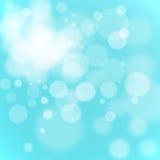 Bokeh light. Colorful blue background Stock Photos