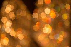 Bokeh of light decoration Stock Photos