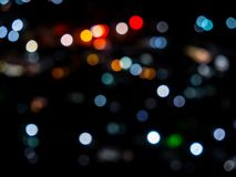 Bokeh light defocused. Blurred bokeh light defocused background and textured for Christmas , New Year holidays party and celebration background wallpaper Royalty Free Stock Photo