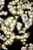 Bokeh light gold defocus at night abstract Royalty Free Stock Image
