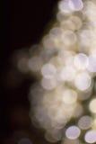 Bokeh light gold defocus at night abstract Stock Photos