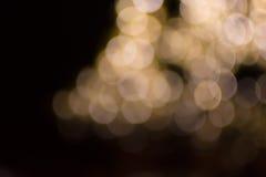 Bokeh light gold defocus at night abstract. Stock Photography