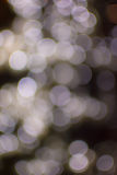 Bokeh light gold defocus at night abstract. Royalty Free Stock Images