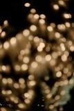 Bokeh light gold defocus at night abstract vintage. Stock Photo